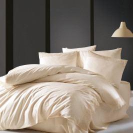 Béžové povlečení z bavlny Cosy Up, 200 x 220 cm