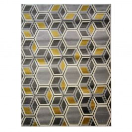 Koberec Flair Rugs Cocktail Mimosa Grey Ochre, 80 x 150 cm