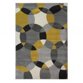 Koberec Flair Rugs Cocktail Cosmo Grey Ochre, 80 x 150 cm