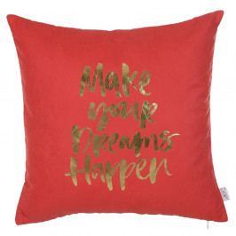Červený povlak na polštář Apolena Dreams, 45 x 45 cm