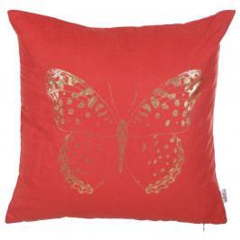 Červený povlak na polštář Apolena Butterfly Line, 45 x 45 cm