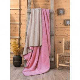Růžovo-béžová deka Sandra, 200x220cm