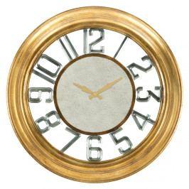 Nástěnné hodiny ze železa ve zlaté barvě Mauro Ferretti Ver