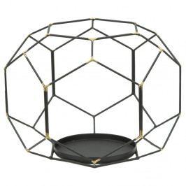 Černý svícen ze železa Mauro Ferretti Ball