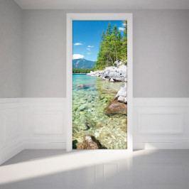Adhezivní samolepka na dveře Ambiance Crystal Lake, 83 x 204 cm