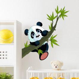 Nástěnná dětská samolepka Ambiance Panda On Branches