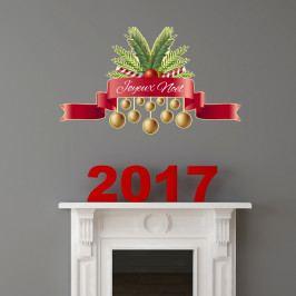 Vánoční samolepka Ambiance Joyeux Noel