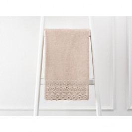Hnědý ručník z čisté bavlny Madame Coco, 50 x 76 cm