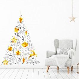 Vánoční samolepka ve tvaru stromečku Ambiance, 85 x 60 cm