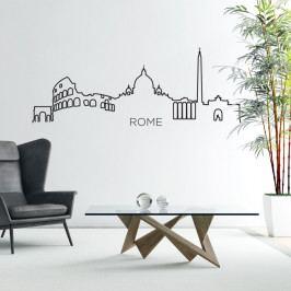 Samolepka na stěnu ve tvaru obrysu města Ambiance Řím