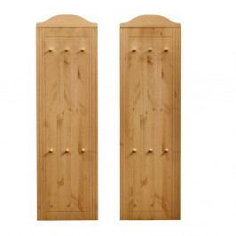 Sada 2 dřevěných nástěnných věšáků Støraa Fiona