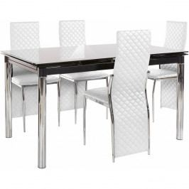 Set jídelního stolu a 4 bílých jídelních židlí Støraa Pippa William White
