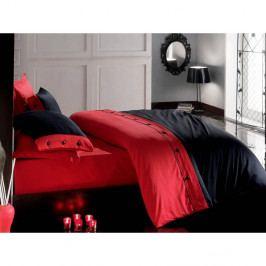 Povlečení z bavlněného saténu s prostěradlem na dvoulůžko Premium,200x220cm