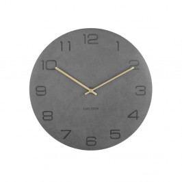 Šedé nástěnné hodiny Karlsson Vigorous, ⌀40 cm