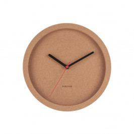 Hnědé nástěnné korkové hodiny Karlsson Tom, ⌀26 cm