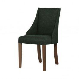 Tmavě zelená židle s tmavě hnědými nohami z bukového dřeva Ted Lapidus Maison Absolu