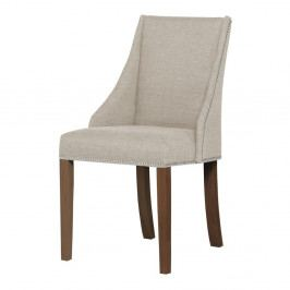 Krémová židle s tmavě hnědými nohami z bukového dřeva Ted Lapidus Maison Patchouli