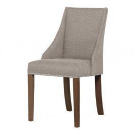 Šedohnědá židle s tmavě hnědými nohami z bukového dřeva Ted Lapidus Maison Patchouli