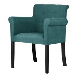 Tyrkysová židle s černými nohami z bukového dřeva Ted Lapidus Maison Flacon
