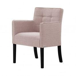 Světle růžová židle s černými nohami z bukového dřeva Ted Lapidus Maison Freesia