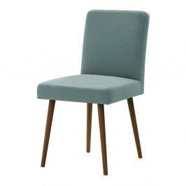 Mentolově zelená židle s tmavě hnědými nohami z bukového dřeva Ted Lapidus Maison Fragrance
