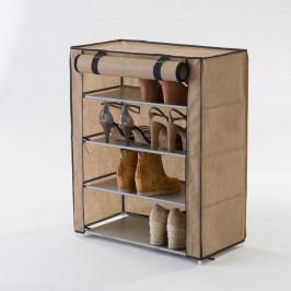 Béžový textilní čtyřpatrový botník Compactor Shoes