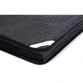 Černá deka z merino vlny Royal Dream Merino Black, 90x200cm