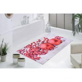 Červeno-bílý koberec Vitaus Berries, 50 x 80 cm