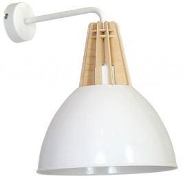 Bílé nástěnné svítidlo s dřevěným detailem Glimte Fasan Uno