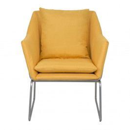 Žluté křeslo Mauro Ferretti Confort