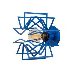 Modrá nástěnná lampa Radius