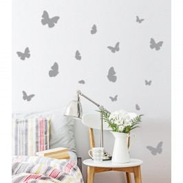 Sada 16 dekorativních samolepek s motivem motýlů, 100 x 100 cm