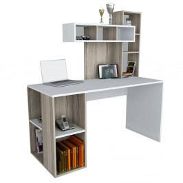 Bílý pracovní stůl Coral