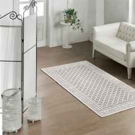 Bavlněný koberec Cream Ornament, 100 x 150 cm