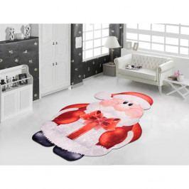 Červeno-bílý koberec Vitaus Santa, 60 x 100 cm