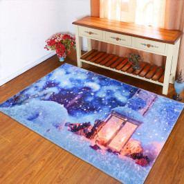 Modrý koberec Vitaus Lantern, 50 x 80 cm