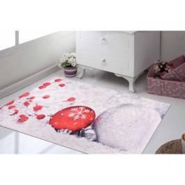 Bílo-červený koberec Vitaus Mood, 80 x 150 cm