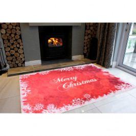 Bílo-červený koberec Vitaus Merry Christmas, 50 x 80 cm
