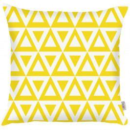 Žlutý povlak na polštář Apolena Triangle, 43x43cm