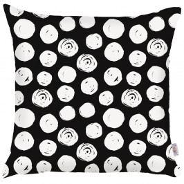 Černobílý povlak na polštář Apolena Dots, 43x43cm