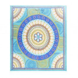 Modrá plážová deka Sun & Surf Mandala Marga