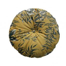 Hořčicově hnědý polštář s motivem květin BePureHome Vogue, ø 45 cm