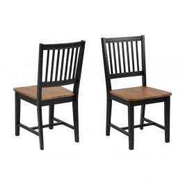 Sada 2 hnědo-černých jídelních židlí Actona Brisbane