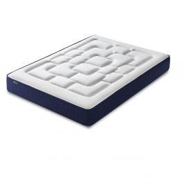 Bílá matrace s modrým okrajem Bobochic Paris Velours,140x190cm