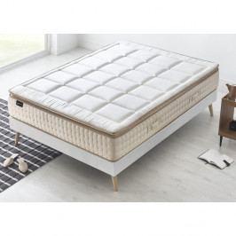 Bílá matrace s krémovým okrajem Bobochic Paris Cashmere,140x190cm