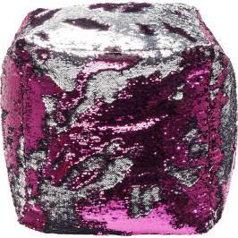 Růžový puf Kare Design Queen