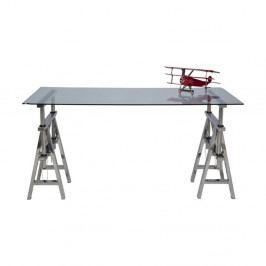 Skleněná stolní deska Kare Design Clear, 160 x 80 cm