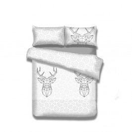 Flanelové povlečení nadvoulůžko AmeliaHome My Deer Friend, 200x220cm +70x80cm