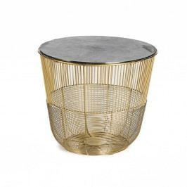 Příruční stolek ve zlaté barvě Simla Circle, ⌀38cm