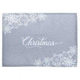 Sada 2 šedých prostírání s vánočním motivem Mike&Co.NEWYORK Honey Christmas, 33 x 45 cm